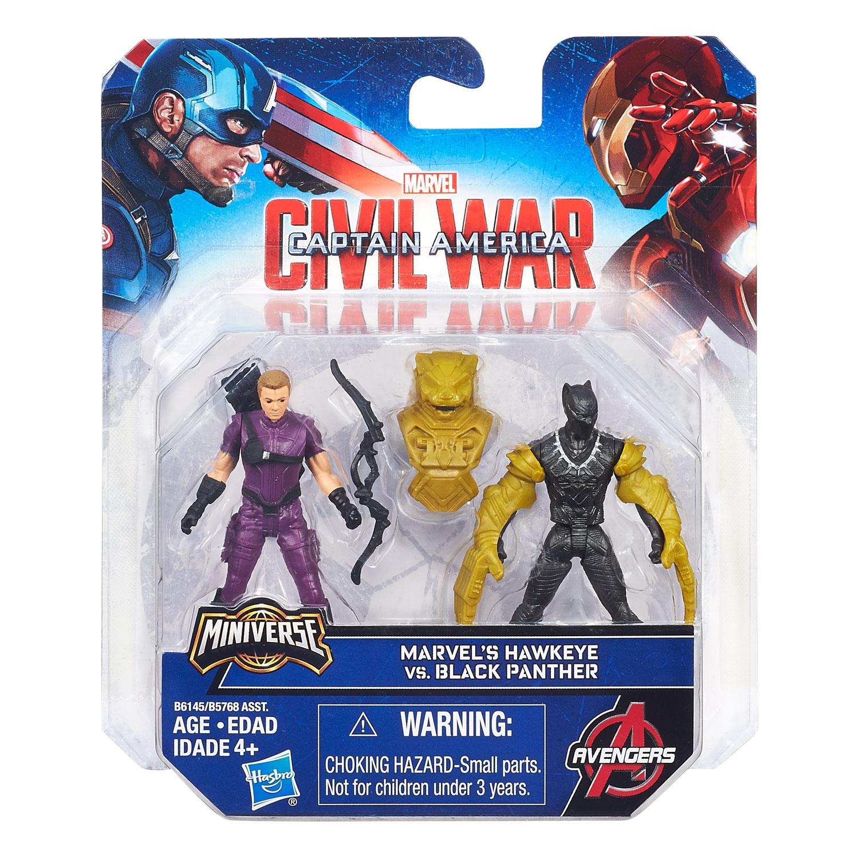 Hasbro-2.5in-Miniverse-Team-vs-Team-2pk-Black-Panther-vs-Hawkeye