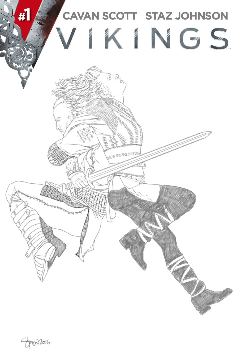 AOD Collectables Store Variant B&W Sketch by Simon Myers