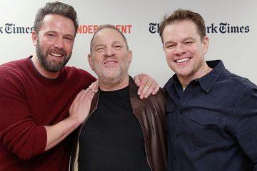 Ben Affleck, Harvey Weinstein and Matt Damon