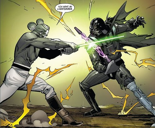 Darth Vader vs Jedi Master Infil'a