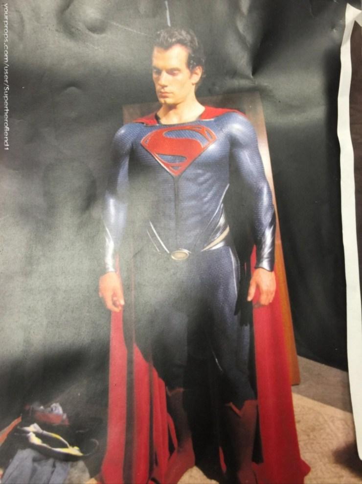 Man of Steel Behind the Scenes Superman suit