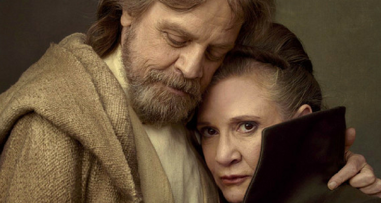 Leia Organa and Luke Skywalker