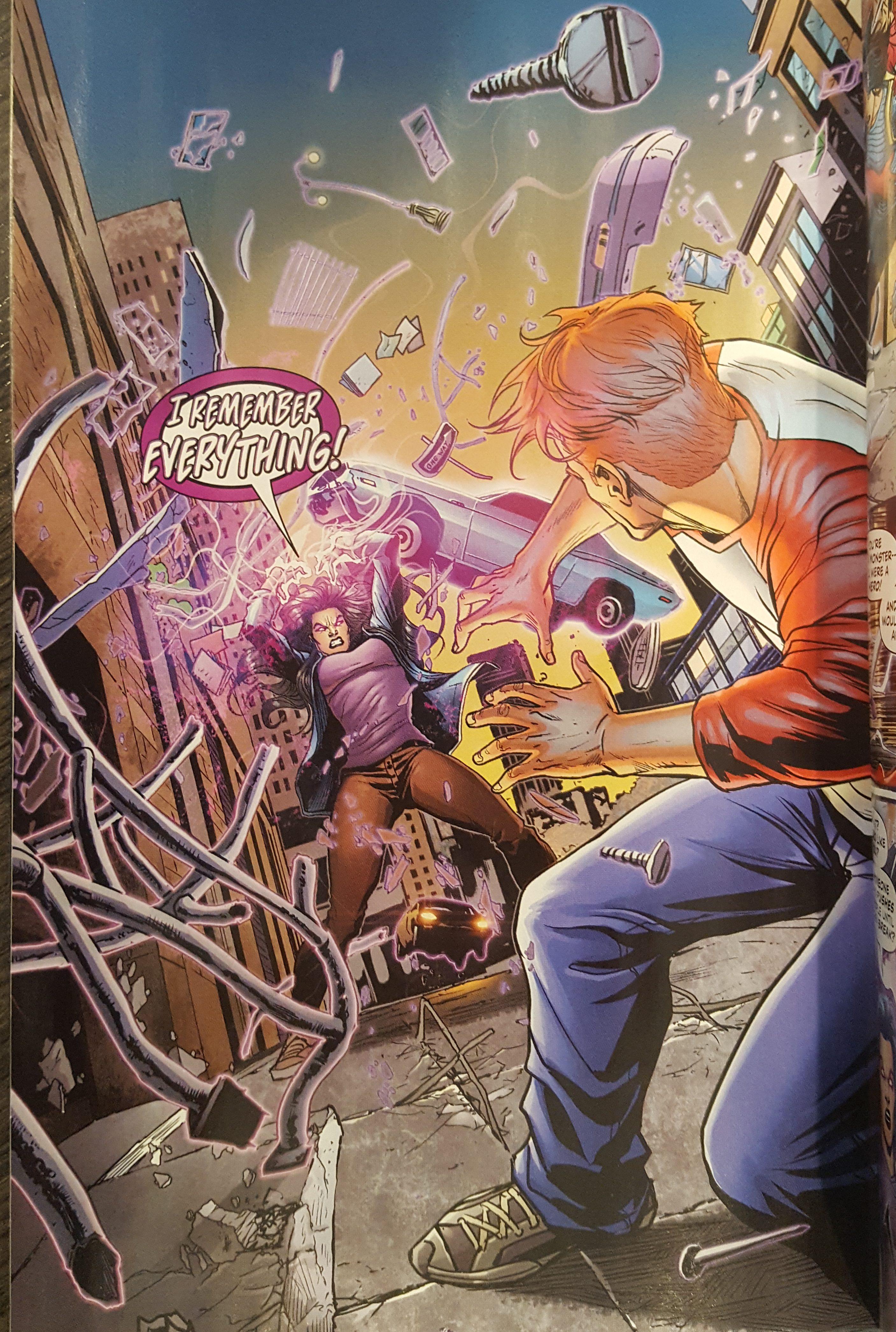 Magenta attacks Wally West Flash Annual #1