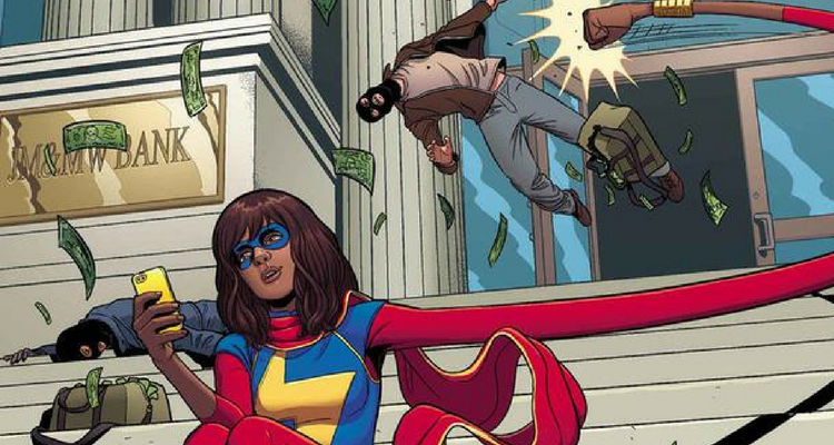 Kamala Khan Punching