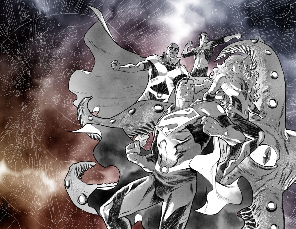 Superman Cover of Justice League: No Justice by Francis Manapul