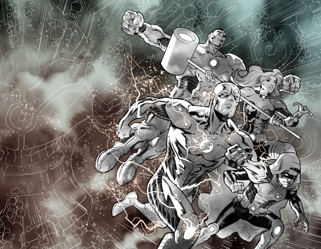 The Flash Cover of Justice League: No Justice by Francis Manapul
