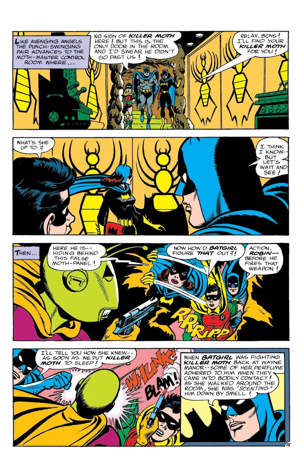 Batgirl finds Killer Moth