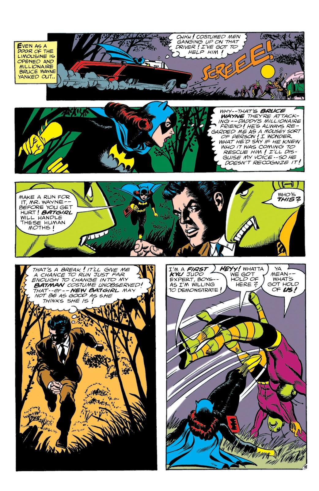 Batgirl saves Bruce Wayne