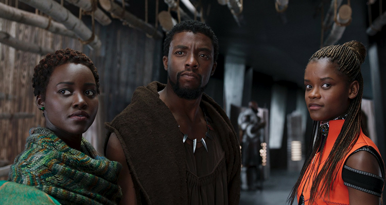 Black Panther, Shuri, and Nakia