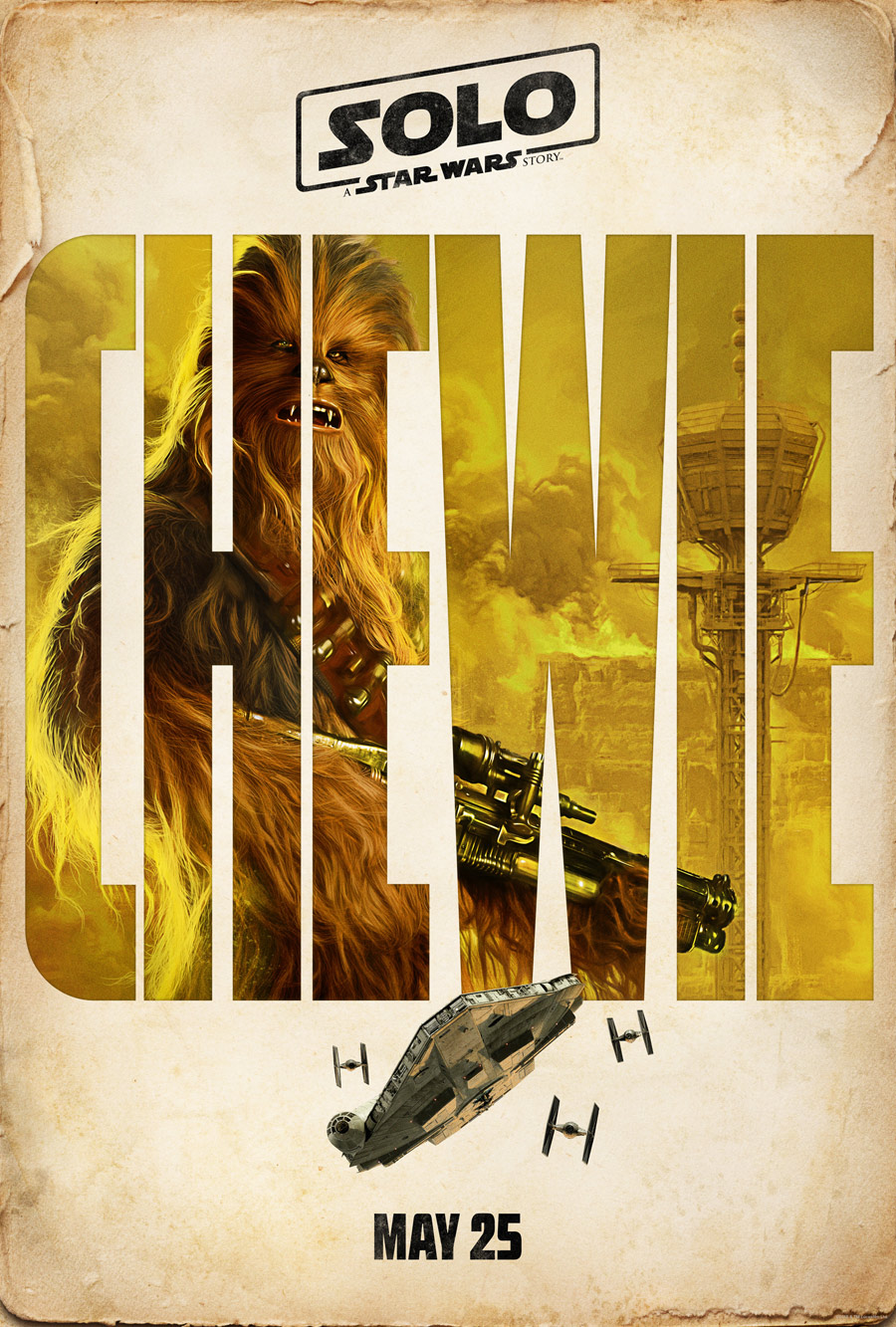 Chewbacca character poster