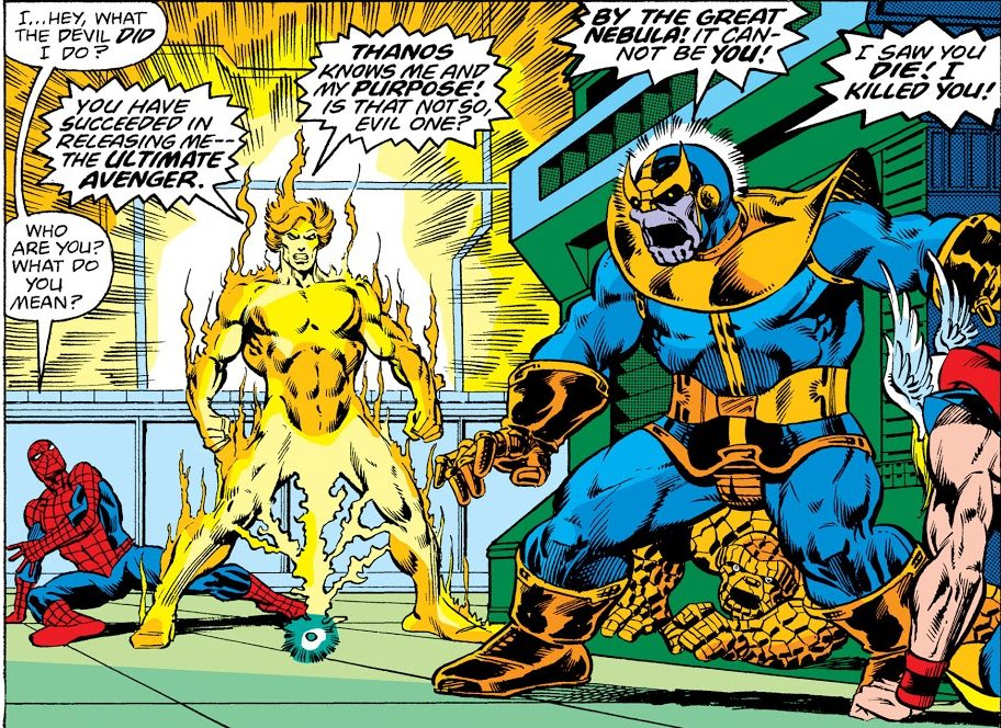 Adam Warlock vs Thanos