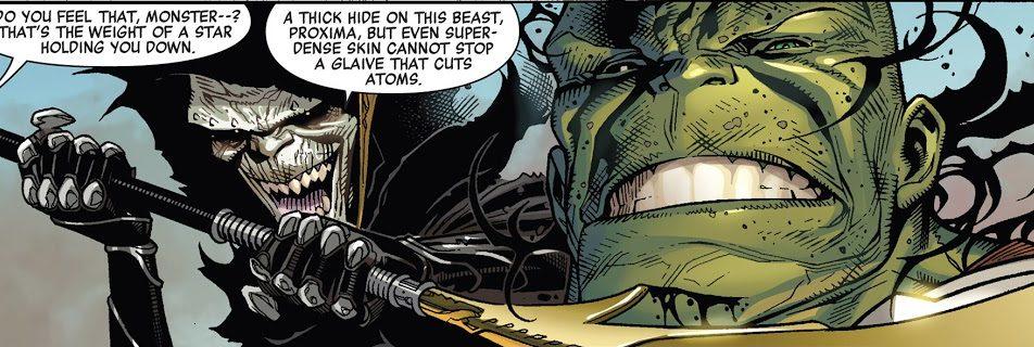 Corvus Glaive vs Hulk