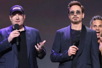 Kevin Feige and Robert Downey Jr.
