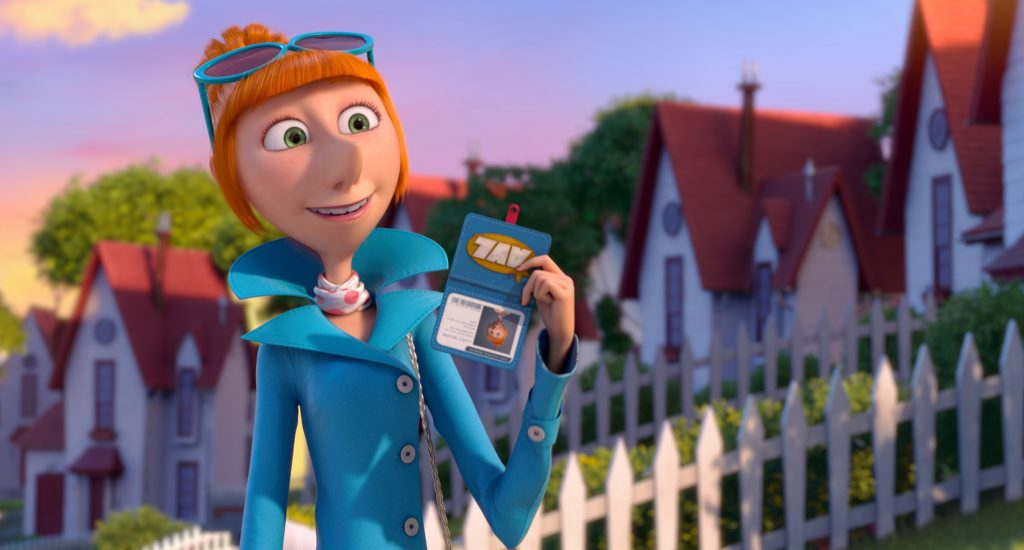 "Kristen Wiig as ""Lucy Wilde"" in Despicable Me 2"
