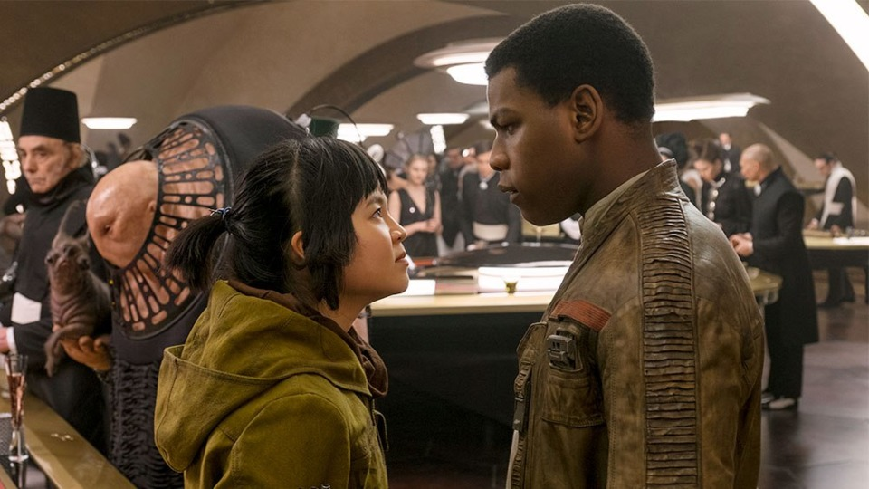 Finn and Rose in Star Wars: The Last Jedi - Disney and Lucasfilm