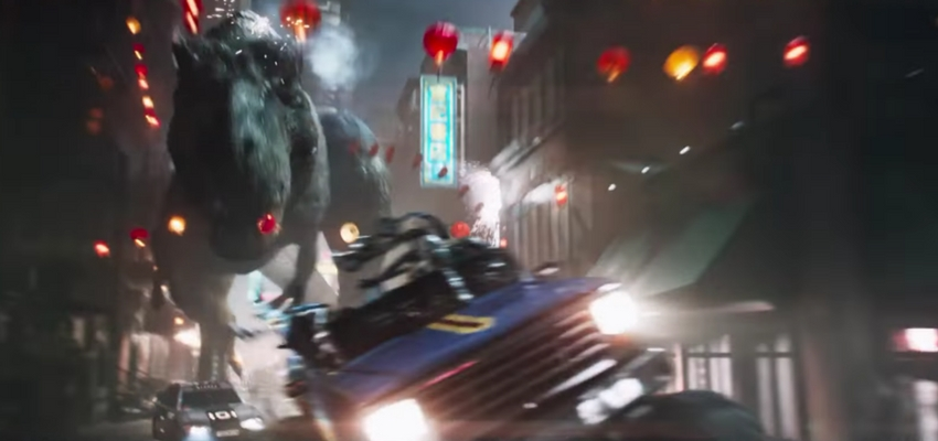 "The Tyrannosaurus Rex from ""Ready Player One"" - Warner Bros. Pictures and Amblin Entertainment"