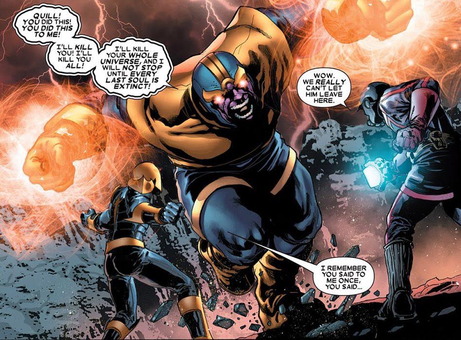 Thanos vs Nova and Star-Lord