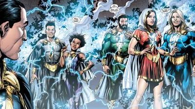 "The Shazam Family in ""Justice League"" - Art by Gary Frank - DC Comics"