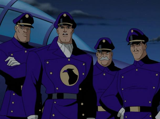 """The Blackhawk Squadron in """"Justice League: The Animated Series"""" - Warner Bros. Animation"""