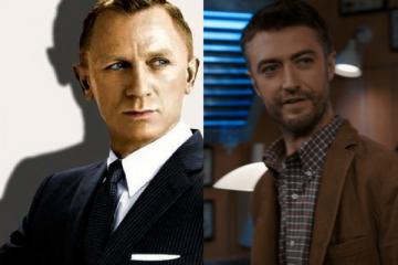 James Bond and Sean Gunn