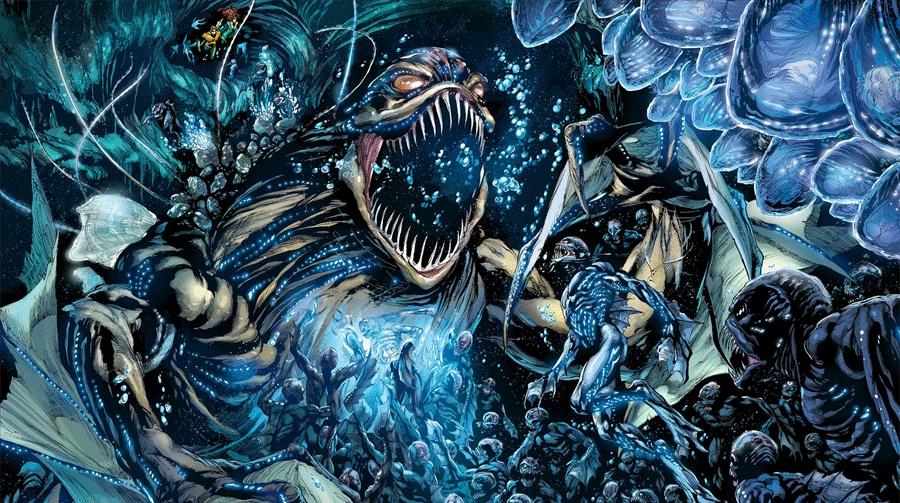 "The Trench in ""Aquaman"" - Art by Ivan Reis - DC Comics"