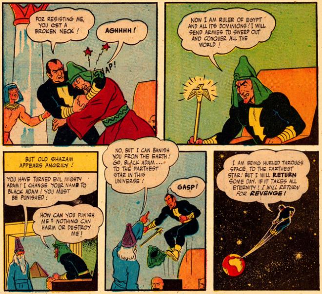 Black Adam and Captain Marvel - Fawcett Comics