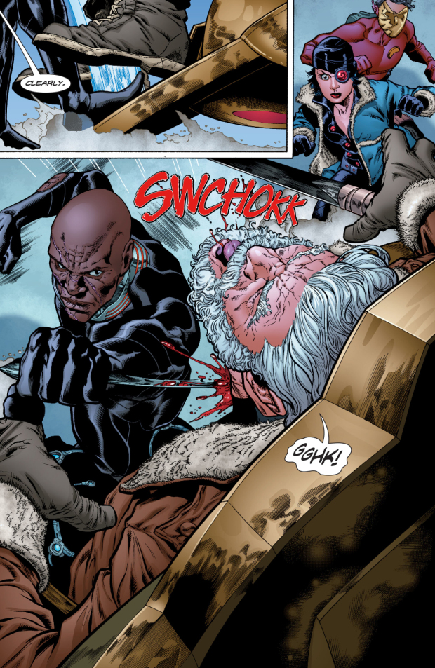 Kingfisher and Black Manta - DC Comics