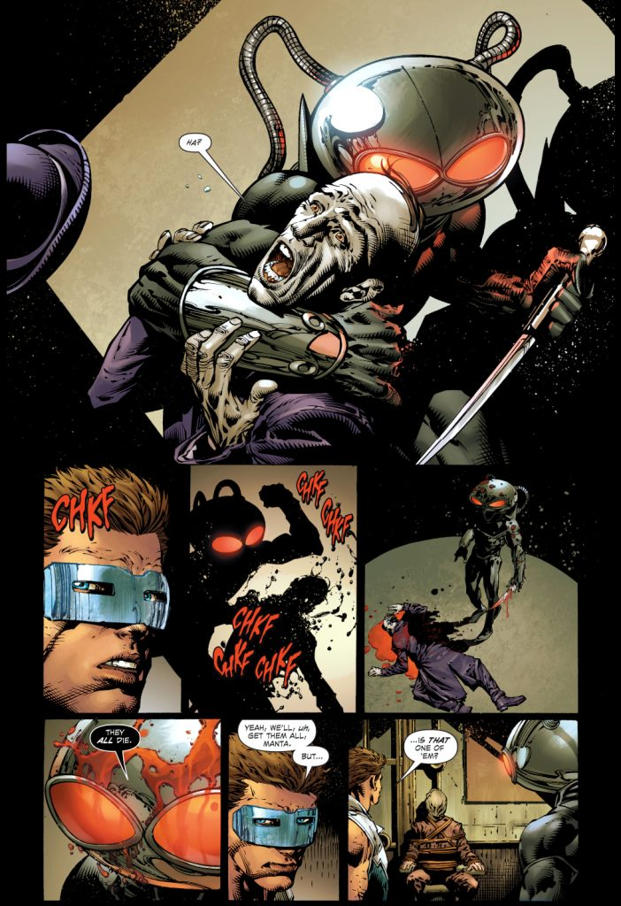 Manta Kills Outsider - DC Comics