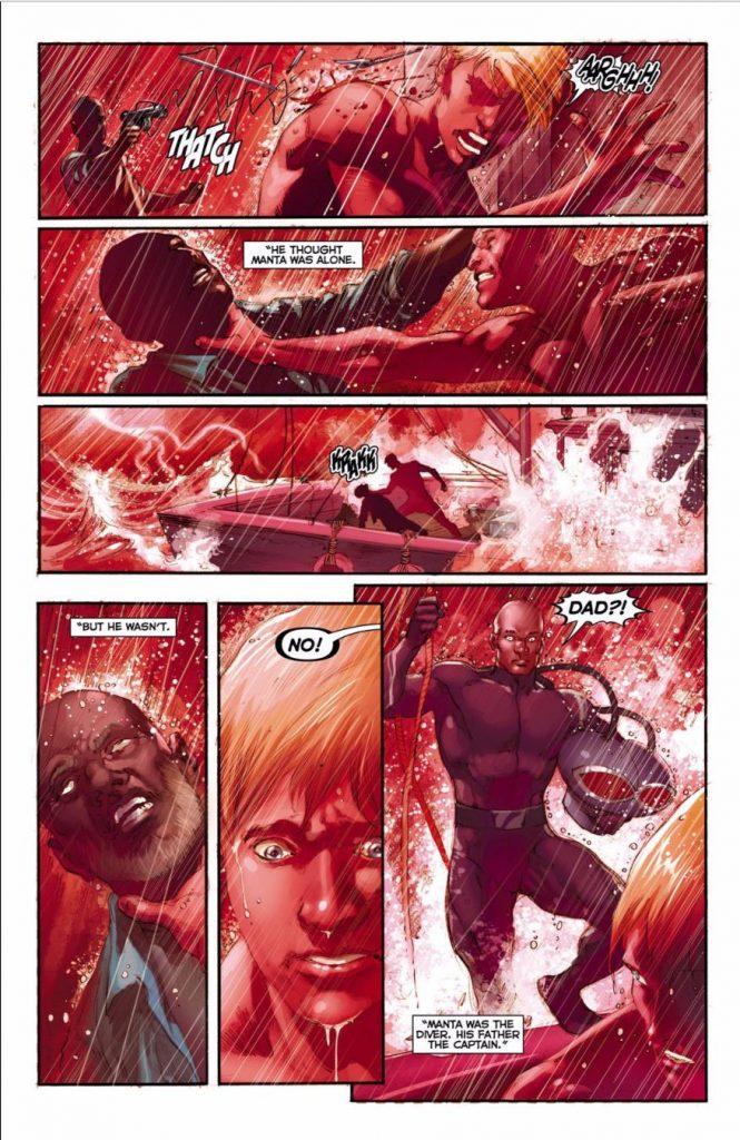 Black Manta and Aquaman - DC Comics