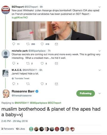 Roseanne Tweet