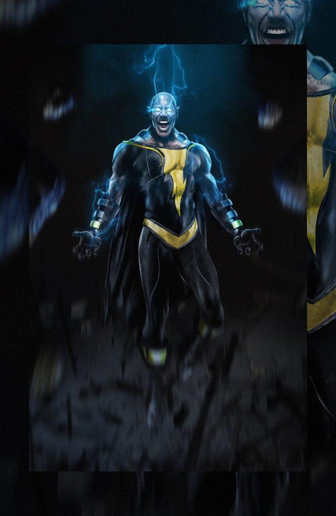 Dwayne Johnson as Black Adam - Art by Bosslogic