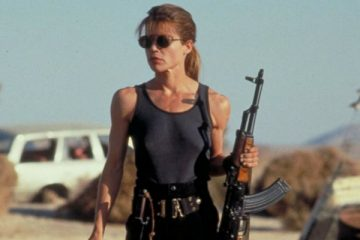 "Linda Hamilton as Sarah Connor in ""Terminator 2"" - TriStar Pictures"