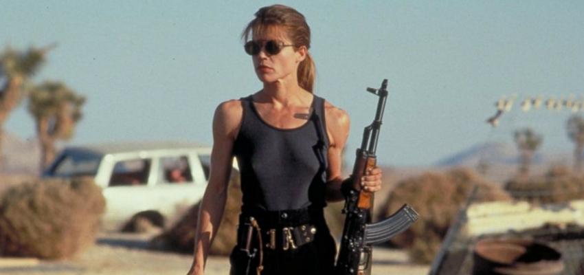 """Linda Hamilton as Sarah Connor in """"Terminator 2"""" - TriStar Pictures"""