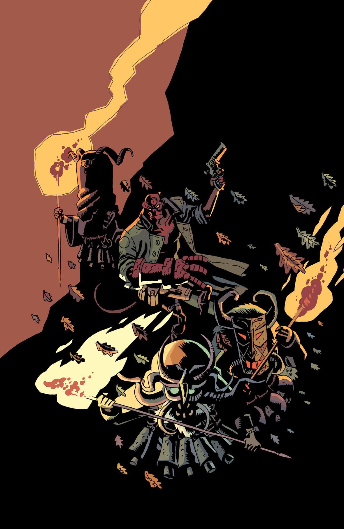 Hellboy Winter Special 2018 cover by Gabriel Bá