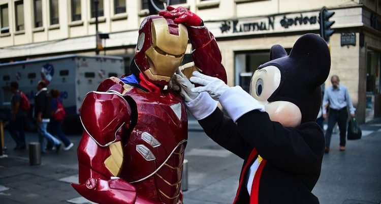 Mickey Mouse and Iron Man