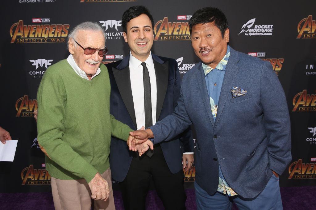 Stan Lee, Keya Morgan, and Benedict Wong