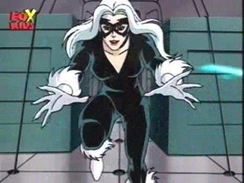 Black Cat animated Spider-Man