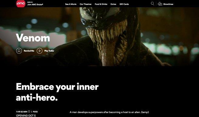 Venom Movie Rating