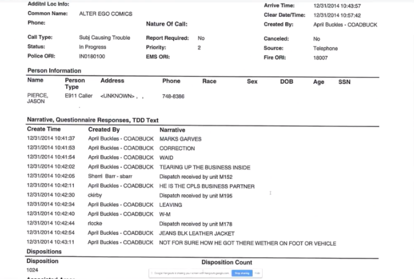 Muncie Police Report Mark Waid