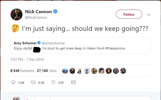 Amy Schumer-Nick Cannon Tweet