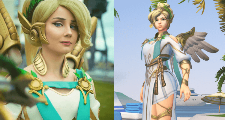 Effy as Overwatch's Winged Victory Mercy
