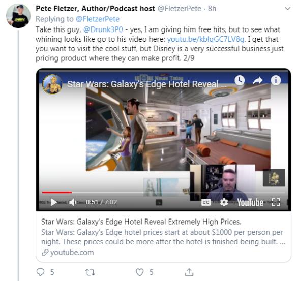 Around the Galaxy Podcast Cancels Episode Featuring Fandom Menace Member Drunk3P0 After Backlash - Fletzer Tweet 2/9