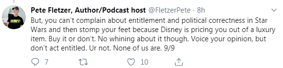 Around the Galaxy Podcast Cancels Episode Featuring Fandom Menace Member Drunk3P0 After Backlash - Fletzer Tweet 9/9