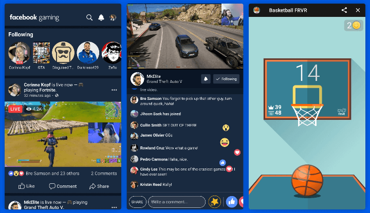 Facebook Launches Facebook Gaming App to Compete with Twitch and YouTube Gaming