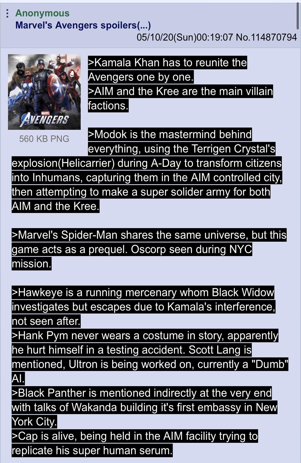 Rumor: New Leaks for Marvel's Avengers Reveals Game's Main Villain and Ending Featuring Kamala Khan