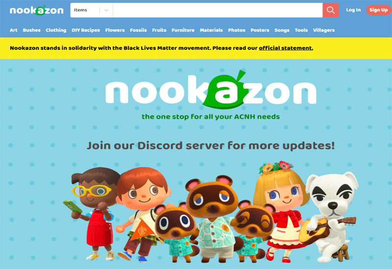 Animal Crossing: New Horizons Fan Market 'Nookazon' Issues Statement In Support of Black Lives Matter After Facing Backlash for Moderating Discord Server
