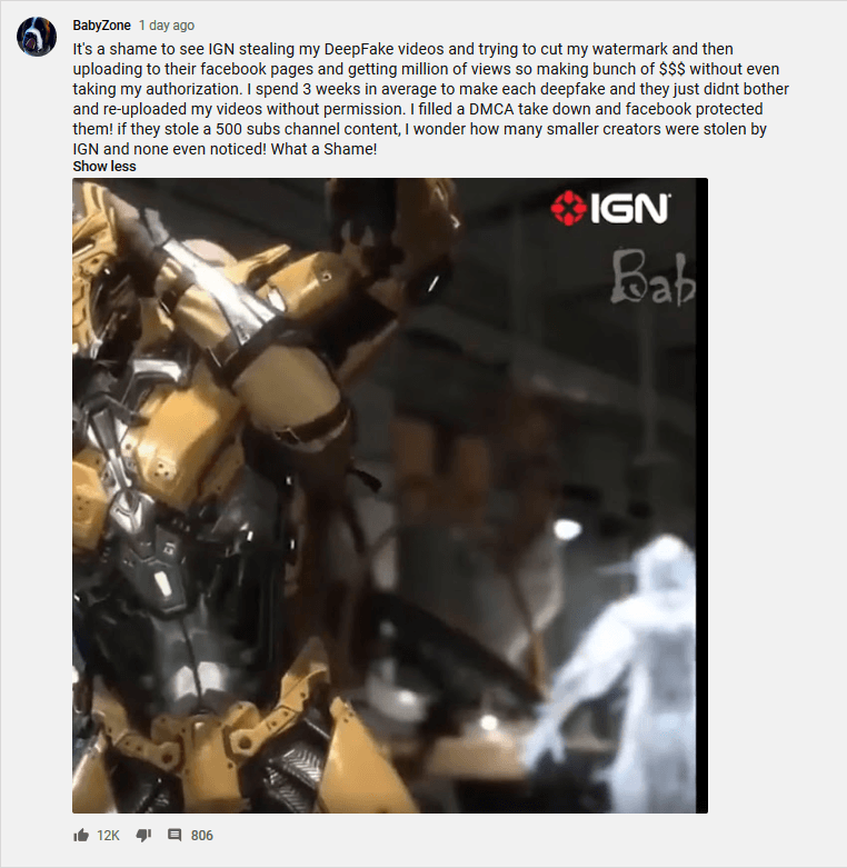 IGN Brazil Uploads, Then Deletes Mortal Kombat 11 Content After Being Caught Stealing Footage and Removing Watermarks from Videos Recorded by YouTuber BabyZone