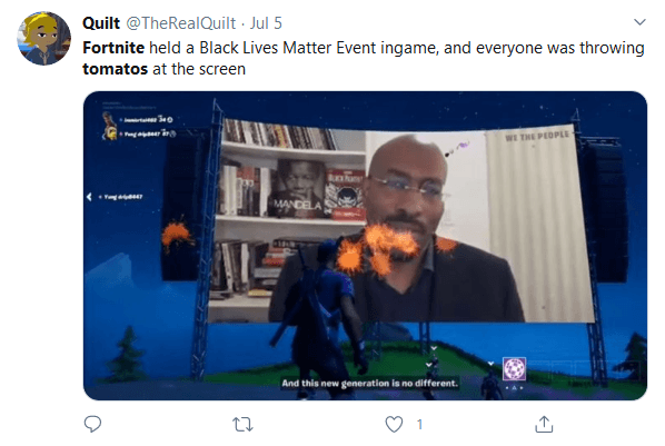 Fortnite Players Ignore, Throw Tomatoes at CNN Hosted 'We Are the People' In-Game Townhall Discussing Racism