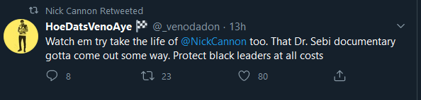 Nick Cannon retweet assassination 3