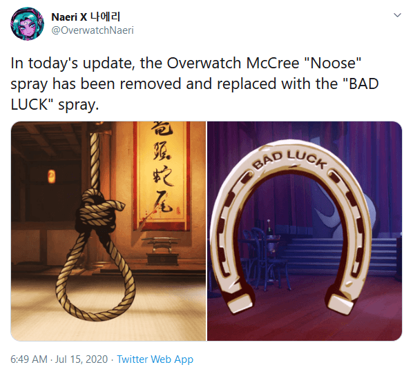 Blizzard Removes McCree's 'Noose' Spray in Latest Overwatch Update